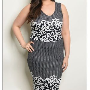 Dresses & Skirts - Navy and White Plus Size Dress
